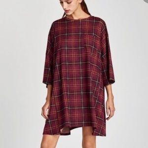 Zara Oversized Check Dress - Sz M